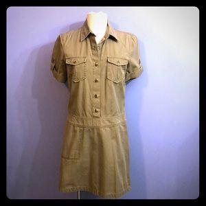 J crew 6 military army green mini dress